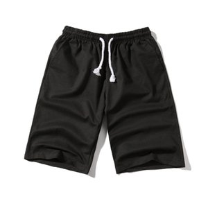 YASUGUOJI Nuevo 2019 Verano Color Sólido Pantalones Cortos Casuales Hombres Streetwear Cintura Elástica Algodón Hombres Pantalones Cortos Ropa Estrella