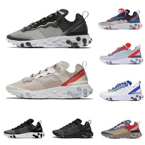 2019 react element 87 55 zapatos para correr para hombres mujeres Anthracite Light Bone triple negro blanco RED ORBIT fashion hombre zapatillas deportivas zapatillas deportivas