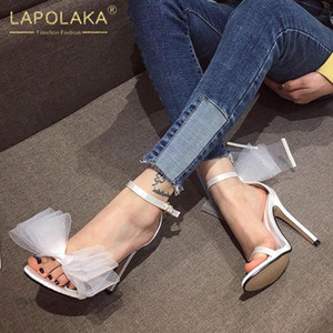 Lapolaka Sıcak Yeni Gelenler Seksi İnce Yüksek Topuklar INS Sıcak Sandalet Kadın Ayakkabı Kelebek Toka Kayış Dropship Party Club Sandalet