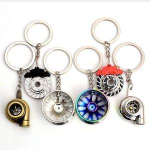 Nouveau style de voiture Noir RIM porte-clés de roue Roue de voiture Nos Turbo porte-clés porte-clés en métal avec disques de frein Moyeu de roue Porte-clés Auto Accessoires