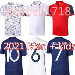 Griezmann Polo 20 21 футбола Джерси MBAPPE Кант FEKIR Pogba 100-Майо-де-футовых 2021 Мужчина Детских наборов набор рубашка футбол Uniform