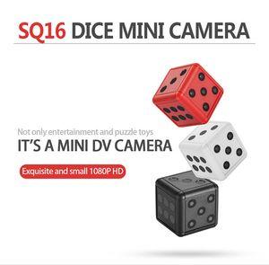كاميرا مصغرة الساخنة SQ16 النرد كاميرا 1080P HD للرؤية الليلية كاميرا مصغرة كشف الحركة فيديو مراقبة كاميرا الفيديو