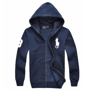 Yeni Sıcak satış erkek Ceketler Büyük At polo Hoodies ve Tişörtü bir başlık ile sonbahar kış rahat spor ceket erkek hoodies erkek Ceketler
