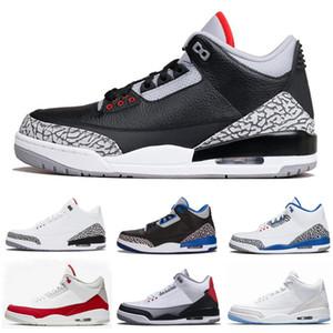 Лучшее Качество Top 3s Мужская Баскетбольная Обувь 3 JTH NRG Черный Цемент Чистый Белый Катрина Мужчины Женщины Дизайнерские Кроссовки Спортивная Обувь Размер 7-13
