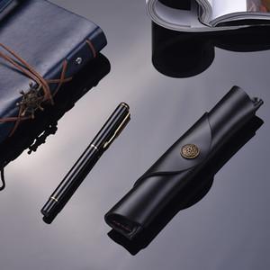 7 * 1.2''Antique 가죽 단일 펜 스타일러스 볼펜을위한 펜 케이스 학교 가방 분수 수제 슬리브 가방 파우치 수호자