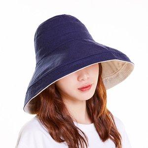 Spring Women Hat Big brim cap Flat Bucket Hat Ladies Sun Female Summer Hip Hop Panama Cap Bob Chapeau Fisherman Fishing
