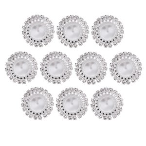 10 Stück 18mm Runde Acryl Perle Strass Flatback Buttons Schmuckherstellung Anhänger-Zusatz-Entdeckungen Scrapbooking Verschönerungen