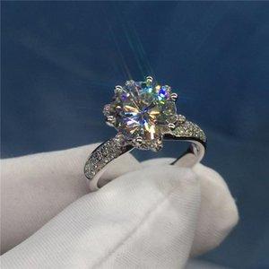 Victoria Wieck Choucong Marke Desgin Luxuxschmucksachen 925 Sterlingsilber-Rose Gold füllte Rundschnitt-Weiß Topaz CZ-Diamant-Frauen Hochzeit Rin