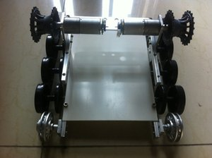 The last version! wall-e,2 WD obstacle-surmounting tank car chassis   high torque,metal structure,big load tank chassis for DIY