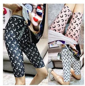 2020 nouveau leggings été élastique à la taille de la crème solaire soie glace gaze féminin tissu imprimé lune maigre sport pantalon serré yoga