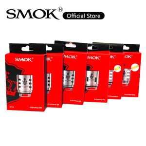 SMOK TFV12 Prince Coils Head Family V12 Prince Max Mesh Strip Coil Q4 M4 X6 T10 X2 Clapton Dual Coil Triple Dual Mesh Coil 100٪ Original