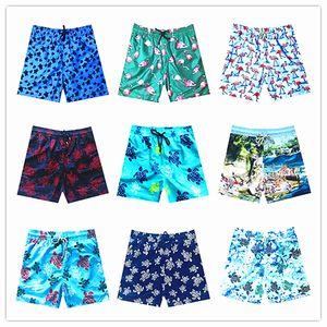 Fashion-2019 Brand Vilebre Uomo Beach Board Shorts Costumi da bagno Uomo 100% Quick Dry Turtles Boardshorts da uomo Bermuda Brequin Swimshort M-XXXL