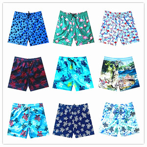 Moda-2019 Marca Vilebre Men Beach Board Shorts Traje de baño Hombres 100% Tortugas de secado rápido Masculinos Bañadores Bermudas Brequin Swimshort M-XXXL