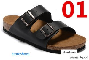 Arizona Women's Flat Sandals xshfbcl Women Double Buckle Famous style Summer Beach design shoes Top Quality Genuine Leather Slippers