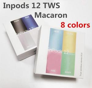Cuffie Bluetooth senza fili i12 TWS inpods 12 Macaron V5.0 stereo Cellulare Cuffie Sport sweatproof cuffie auricolari tocco di pop up