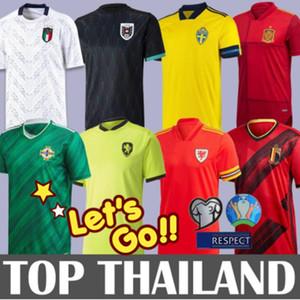 Взрослый 2020 Уэльс футбол Джерси Бейл рубашки 19 20 Италия Швеция Бельгия Испания Северная Ирландия Уэльс Бейл футбольная форма Майо де Фут