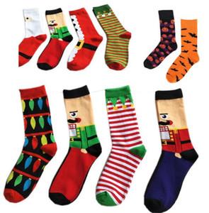 Erkekler Kış Orta Yüksek Çorap Noel Cadılar Bayramı Çorap Ortası tüp çorap Sonbahar İlkbahar Casual İç Noel ağacı Kabak Bat yazdır