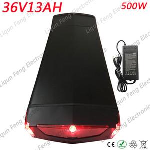 Без налога Высокое качество 36V 13AH Электрический велосипед Батарея использует 2600 мАч элемент 36V 13AH Задняя стойка Ebike Battery fit Bafang BBS01 500 Вт двигатель.