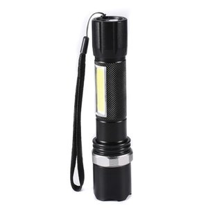 Q5 LED-Taschenlampe COB Rotary Zoomable Taschenlampe Mini-LED-Taschenlampe Tactical Lanterna Led Taschenlampe Lampe Torche für 18650 nattery