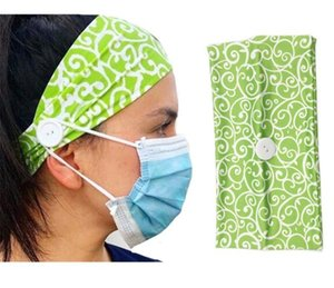 Useful Buttons Hair Band For Dust Mask Prevent Ear Injury Multifunctional Headband Elastic Headband Mask DA388