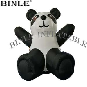 Gigante 2.4mH inflável panda mascote oxford tecido panda inflável brinquedos urso publicidade zoológico decoração