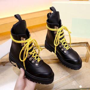 Venda quente novo Mulheres rendas até botas de designer Martin boot ankle boots moda da zebra botas mulheres marca COURO Bota de Pedestrianismo motocycle luxo