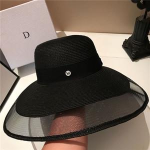 Mode Urlaub Strand Hüte Hohe Qualität Sonnenhut Womens Wide Krempe Hüte Tide Schwarz Hüte Freies Verschiffen