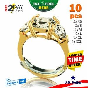 10x invisibile Multi-Size plastica trasparente Guardia di Sizer dell'anello di regolazione Fitter Snuggies Anello Resizer Fitter la festa del partito decorazione di DIY