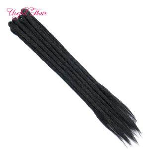 Podread Bloccare Coda di cavallo estensioni dei capelli fatti a mano Dreads Dreadlocks estensioni Reggae Crochet Hip-Hop Dreads Crochet intrecciare i capelli
