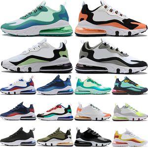 Yeni siyah beyaz toplam yeşil turuncu 270OG Bauhaus Açık Bej Tebeşir gri erkekleri kadın stilist spor ayakkabıları zeytin koşu ayakkabıları mens tepki