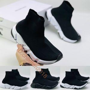 파리 럭셔리 속도 트레이너 유아 신발 2,020 디자이너 소년 소녀 양말 신발 고품질 키즈 스니커즈 배 블랙 화이트 아기 신발