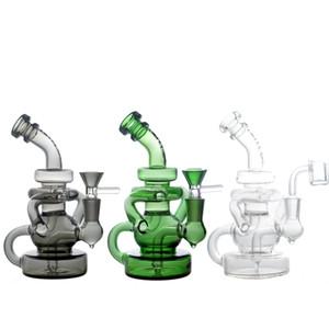 Mini riciclatore bong DAB rig quarzo banger cera bong tubi inebrianti olio rig accessori tubo di vetro hitman fumo narghilè