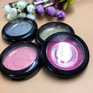 Hot High Quality Round Crystal Fake Eyelashes Box Set Eye Lash Packaging Makeup Box Drop Shipping