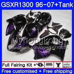 Hayabusa For SUZUKI GSXR1300 96 97 98 99 00 01 07 Black purple Kit 333HM.172 GSXR 1300 GSX-R1300 1996 1997 1998 1999 2000 2001 2007 Fairing