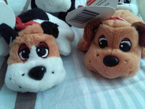 Sac à dos en peluche porte-clés Pups clip Mini Charm Sac Pendentifs Livre Chiots doux en peluche clip animal conserve