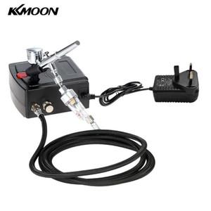KKmoon100-240V Профессиональные гравитационной подача двойного действия аэрограф Воздушного компрессор комплекта для искусства Картины маникюрного Craft Cake Spray Tool