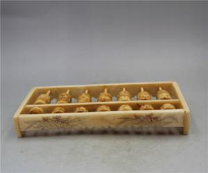 Chine Collect Motif orchidée sculpté à la main Abacus A16