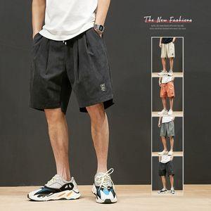 2020 Men's Summer Shorts Print Men's Knee Length Elastic Waist With Pocket Men Casual Shorts Fashion Beach Male Big Size