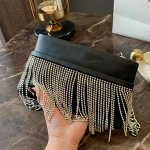 Handtaschen Portemonnaie Frauen Clutch Hüfttasche Brusttasche Mode-Schimmer Strass Quaste Plain klassische Frauen-Klappen-Beutel-Reißverschluss-Geldbörse