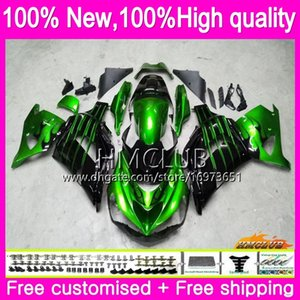 100%Fit Injection For KAWASAKI ZX 14R 1400 ZX14R 06 07 08 09 10 11 72HM.0 ZZR1400 ZX-14R 2006 2007 2008 2009 2010 2011 Fairing Green black