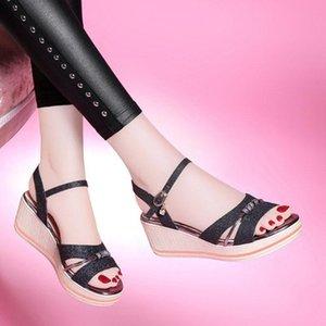 Summer Platform Sandals 2020 Fashion Women Wedges Shoes Woman Peep Toe Causal Shoes Women Platform Thick Bottomed Sandals #5.25
