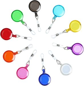 Retractable Badge Holder Badge Reel Carabiner ID Keychain with Clip, Assorted Color