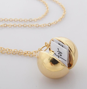 Europe and America necklace secret information ball small box necklace