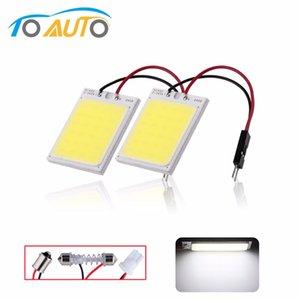 2 개 24 COB LED 자동차 패널 인테리어 라이트 T10 꽃줄 돔 어댑터 W5W C5W 자동차 LED 전구 독서 램프 광원 12V