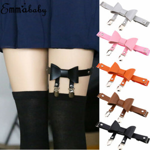 US Sexy Women Leather Garter Body Harness Belt Strap Leg Ring Bowknot Suspenders
