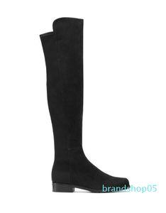 Hot Sale-Paris classique 5050 élastique Bottes New femmes talon 2.5cm Automne et Hiver Chaussures en cuir Slim avec les jambes Slim haute longues bottes Filles