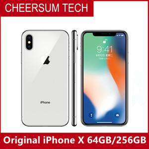 Original desbloqueado Apple iphone x iphonex 4g lte telefone móvel 5.8 '' 12.0mp 3g ram 64g / 256g ROM Celular 5 pcs DHL grátis