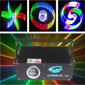 300MW SD 카드 RGB 컬러 애니메이션 클럽 레이저 무대 프로젝터 조명, 풀 컬러 2D / 3D DJ 클럽 디스코 파티 조명