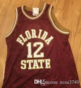 Custom Men Youth women Vintage Champion 1992 Florida State Charlie Ward Basketball Jersey Size S-4XL or custom any name or number jersey