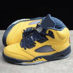2020 nuevos quinta generación de los zapatos de baloncesto de los hombres de cuero real resistente al desgaste y antideslizante transpirable zapatillas de deporte de moda Gao explosión zapatilla deportiva ocasional